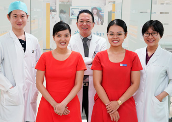 Dr Hung and staff